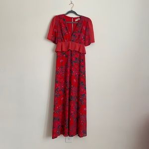 Twisted Wunder London red floral dress
